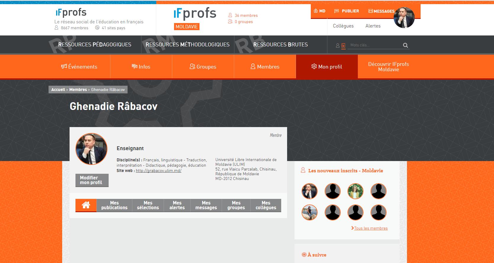 Lancement de la plateforme IF Profs Moldavie